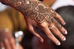 Left hand after henna