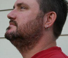Full beard before using Harvest Moon natural dark brown