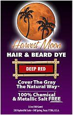 Harvest Moon deep red henna hair dye