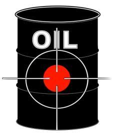 Oil can with target site