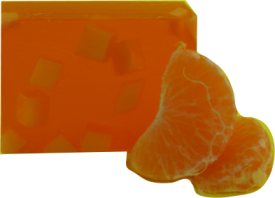 Natural orange mango soap bar