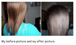 Dark brown henna hair dye over highlights
