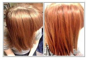 Strawberry red henna for hair on natural red hair
