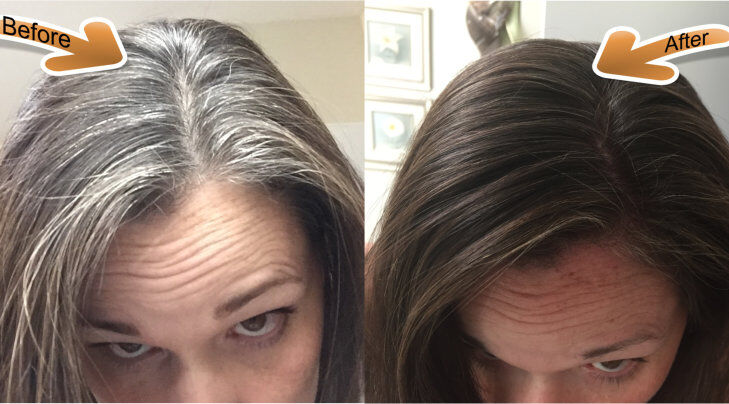 natural brown henna hair dye before and after Dye
