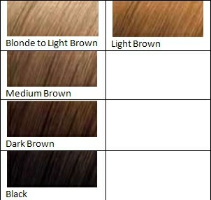 light brown hair dye color chart