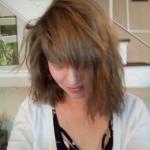 Susan after using ash brown henna