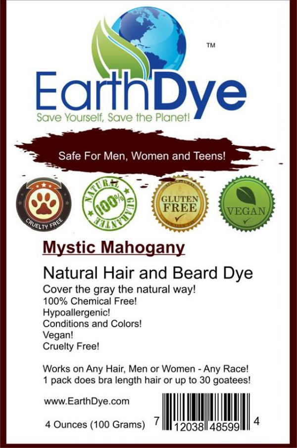 natural mahogany hair and beard dye