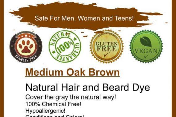 natural brown hair and beard dye
