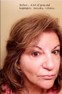 Karen Before Using natural brown